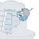 Gran válvula de estrangulación controlada por ordenador