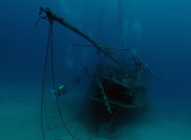 Meridian, barco de guerra alemán sumergido en Tenerife