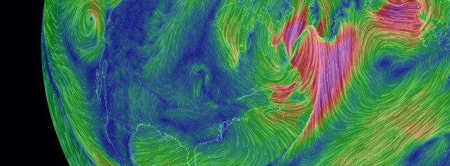 Interactive wind map