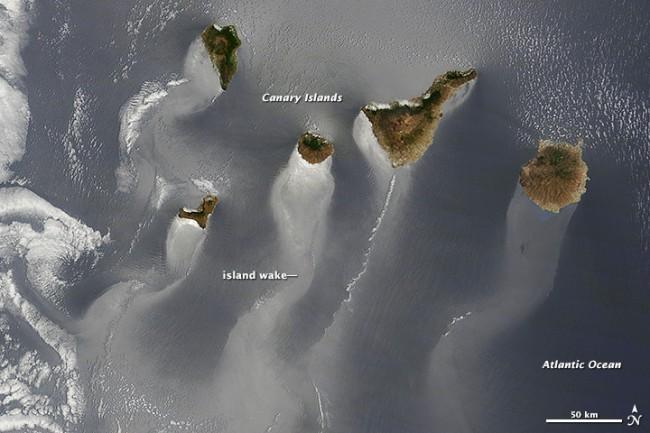 El mar de Canarias podría ser imagen del año de la NASA