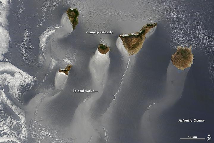 Imagen satélite de Canarias, nominada por NASA
