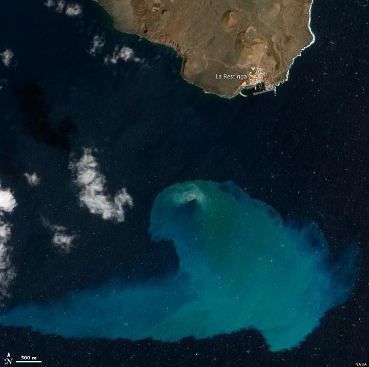 Imagen satelital del volcán de El Hierro, ganadora de 2013