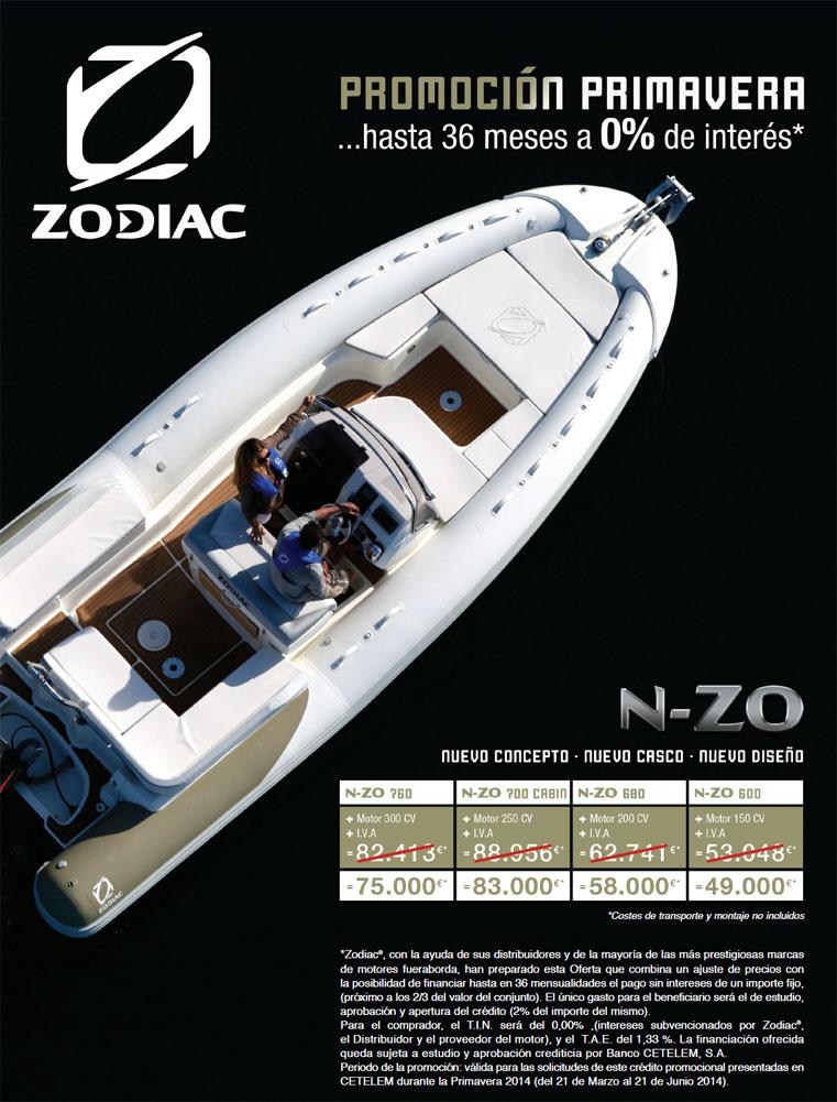 Oferta modelos N-Zo Zodiac 2014