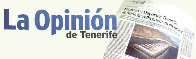 Salimos en un artículo de La Opinión de Tenerife