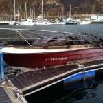 barco quemado Dársena Pesquera riadas octubre 2014