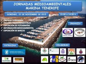 CARTEL JORNADAS MEDIOAMBIENTALES MARINA TENERIFE