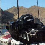 Evinrude E-TEC G2 instalado en embarcacion en Marina Tenerife