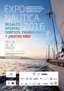 Cartel Feria náutica Tenerife España Exponautica 2016