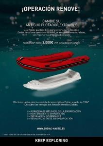 Zodiac flotador extraible