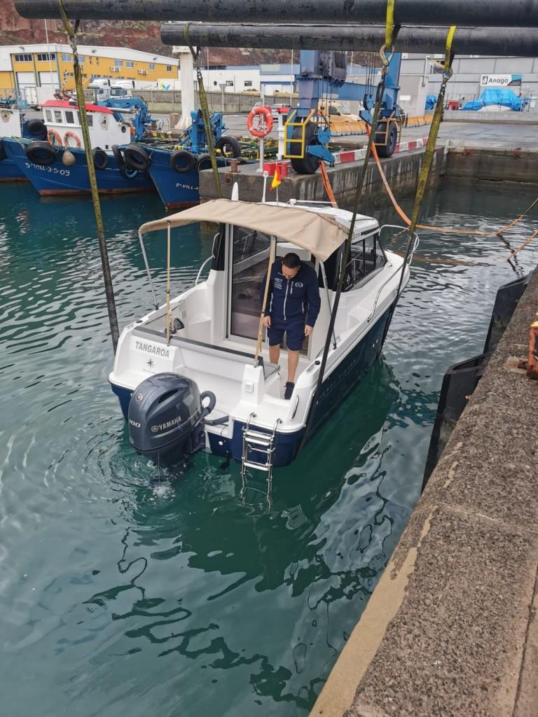 Detalles Jeanneau Merry Fisher 605. Dársena pesquera Tenerife