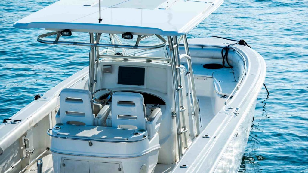 Barco para la pesca consola central. Náutica Tenerife